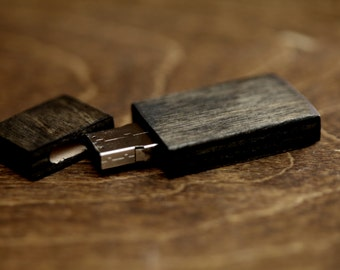 FAST USB 3.0 - 8gb-16gb-32gb wood USB 3.0 flash drive. Color Ebony