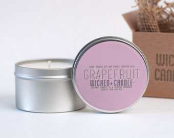 Pink Grapefruit Scented Soy Candle