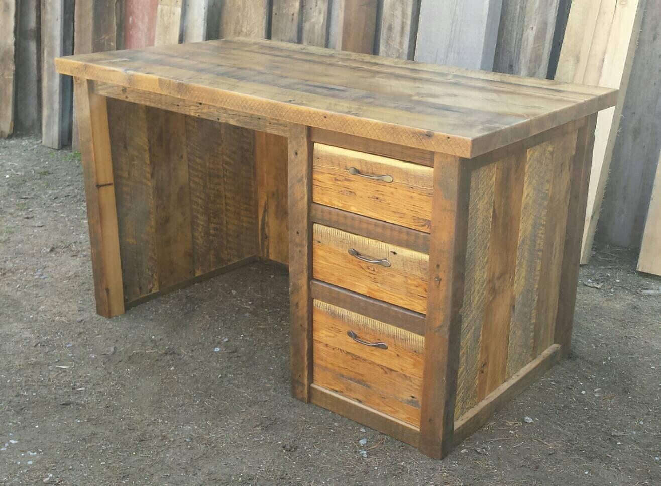 Reclaimed Barnwood Desk