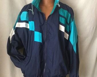Vintage nylon windbreaker jacket by Oakton Limited.