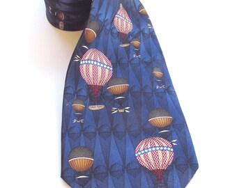 Max Raab Tango Air Balloon vintage silk tie