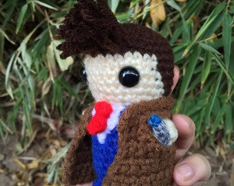 10th Doctor - Doctor Who crochet plushie doll toy David Tennant