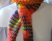 Rainbow Hat and Scarf Set