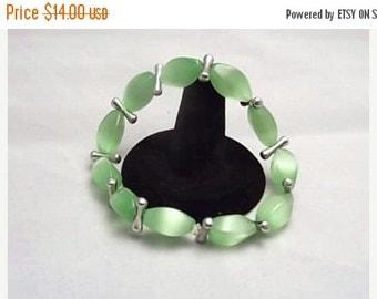 Everything Must Go Blimey Limey Green Glass Bead Bracelet