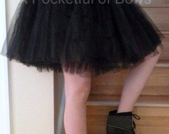 Black Adult Tutu, Teen Tutu, Girls Tutu, Available in Red, White, Black, Lime and Yellow