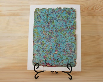SALE Fail Not Original Marbled Painting on Vintage Book Paper