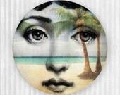 island paradise, original Cavalieri melamine plate