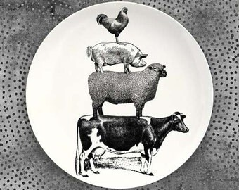Animal Stack melamine plate