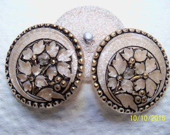 Czech  Glass  Buttons  3 pcs   Gorgeous    32mm  IVA XL 040