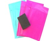 """4"""" x 8""""  Rigid Kraft BUBBLE MAILERS -Exclusive Hot Pink & Teal Colors (50 Pack)"""