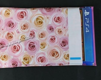 6x9 -20 Pack ~Bouquet of Roses Poly Mailers bags, Large Flat Poly Mailing Shipping Bags, Colored Plastic Poly Mailer