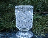 Cut Crystal Vase, Intricate Design, Perfect