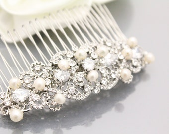 Wedding hair piece Bridal hair accessories Pearl bridal hair comb Wedding headpiece Bridal hair jewlery Wedding hair comb Bridal hair piece