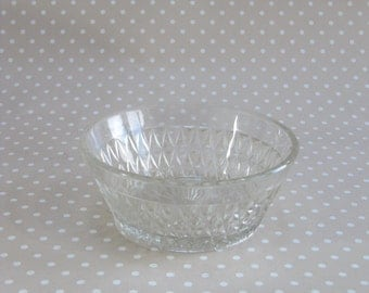 Vintage Retro Foreign Patterned Heavy Glass Dessert Snack Bowl