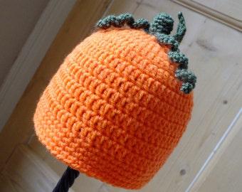 The Pumpkin Hat - Instant Download PDF Crochet Pattern