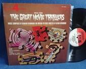 "RARE, Vintage, ""Music From The Great Movie Thrillers"" Bernard Herrmann Vinyl LP, Record Album, Alfred Hitchcock, Psycho, Vertigo, Horror"