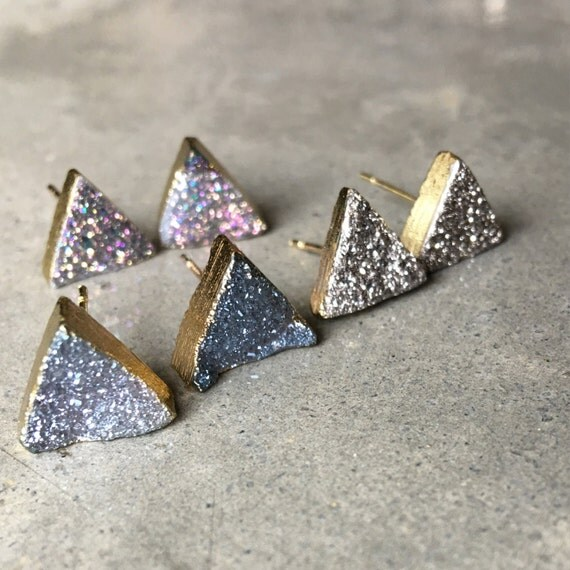 Quartz Druzy Earrings, boho jewelry, aunt gift, sister gift, dsughter gift, wedding jewelry