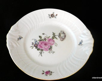 Royal Copenhagen Pattern 910, Ivory Dish, Handled Cake Plate Size: 10 3/4 in