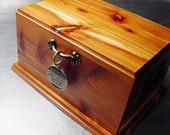 PET CREMATION Urn Box Memorial Dog Medium Beautiful