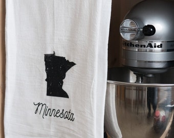 Minnesota Minnesconsin Wisconsin  Tea Towel Flour Sack Towel