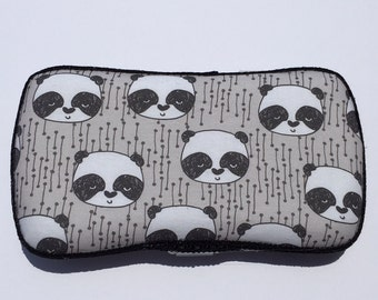 Boutique Style Travel Wipe Case Panda Grey