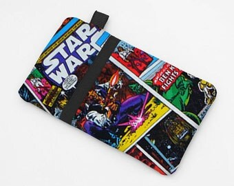 iPhone 4,5, 6 Plus Case, Smartphone Sleeve, Fabric Cell Phone Wallet, Samsung 5 Cover, Motorola Droid Case, Nokia Lumia Bag  - Star Wars