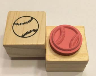 small / tiny baseball rubber stamp, 17 mm (BB4)