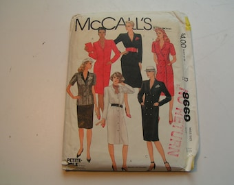 Vintage McCalls Pattern 8669 Miss Coat Dress or Top and Skirt