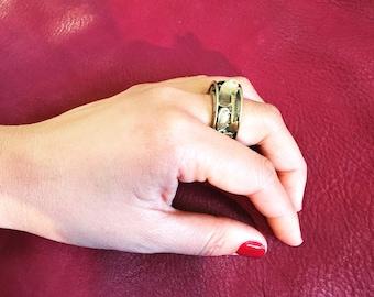 Brass Gold Circular Ring