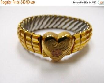 ON SALE HARDWOOD 1/20 12kt Gold Filled Child's Heart Stretch Bracelet Item K # 886
