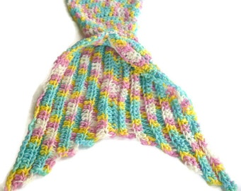 Mermaid Tail Blanket Crocheted Mermaid Tail Mermaid Blanket Infant Kids Adult Sizes Made To Order