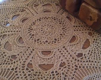 23 inch GRAND crochet thread doily handmade by Patricia Kristoffersen; home decor; thread art; Victorian decor