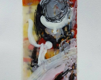 Original Framed Encaustic Painting. A perfect gift. Entitled: Stoic.