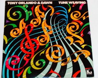 "Tonyl Orlando & Dawn - Tune Weaving - ""Tie a Yellow Ribbon"" - ""You're a Lady"" - Kory Records 1976 - Vintage Vinyl LP Record Album"