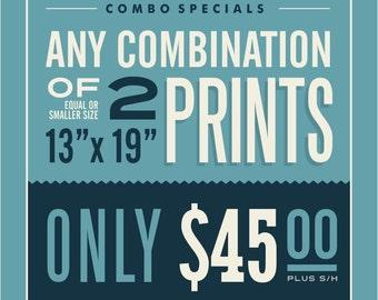 "2 - 13"" x 19"" Prints Combination"