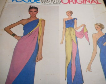 Vintage 1970's Vogue 2173 Paris Original Chloe Dress Sewing Pattern Size 12 Bust 34