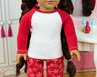 Red Flannel Pajamas ~ American Girl Dolls