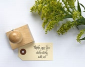 Thank you for celebrating with us -wedding calligraphy stamp - wedding stamp - thank you stamp - rubber stamp - wedding favor K0060