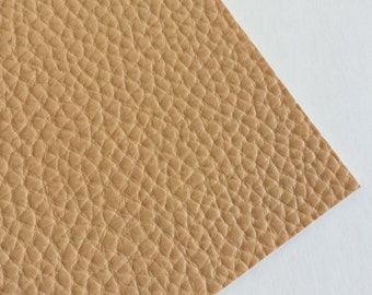 SALE 8x11 Tan Textured Faux Leather Fabric Sheet