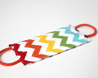 Rainbow Chevron Door Silencer, Door Jammer, Nursery Door Silencer, Door cushion, Door latch cover, PATENTED LATCHY CATCHY