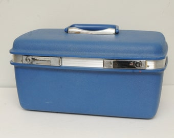 Vintage Samsonite Train Case BLUE