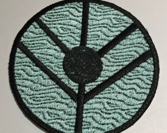 Viking Shield Patch Perfect for Shieldmaiden Lagertha Cosplay 2 x 2 inch size Hair Ornament, Costume, etc. Velcro backed