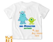 Big brother shirt disney monster Inc. Tshirt - Personalized Big brother Shirt or Bodysuit - 023_BB_2C_disney monster02