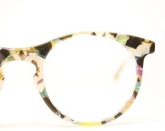 Vintage Eyeglass Frames Unique Colorful 1980s Retro Eyeglass Frames