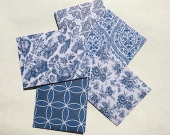 Blue and White envelopes-Set of 5