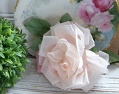 Vintage Pink Millinery Flower Rose, Millinery Roses, Large Millinery Roses, Roses, Hat Flower Roses, Vintage Flowers, Antique Flowers, Pink