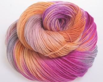Hand Dyed Yarn 'Aurora' - Hand dyed Wool Yarn 4 ply - Downunder Bliss: totally soft