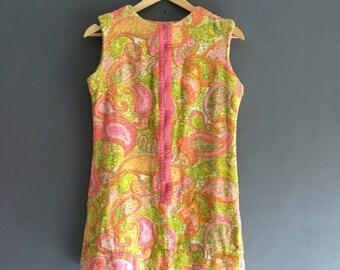 60s Towelling Beach Mini Dress