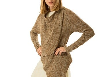 Brown Cardigan, knitted  sweater,women jacket, Eco friendly, SALE