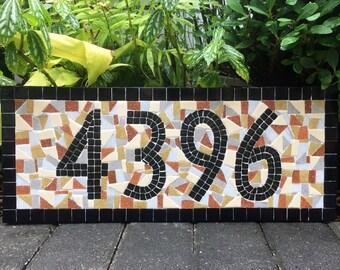 House Numbers // Mosaic Address Sign // Southwest Decor // Custom Address Plaque
